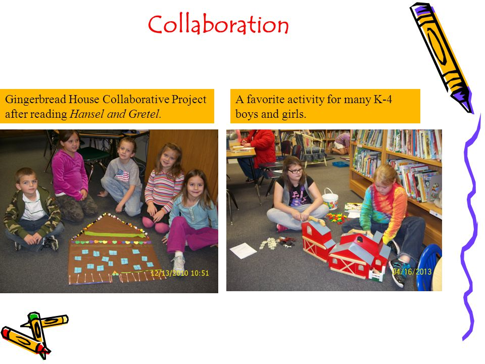 Collaboration Gingerbread House Collaborative Project after reading Hansel and Gretel.