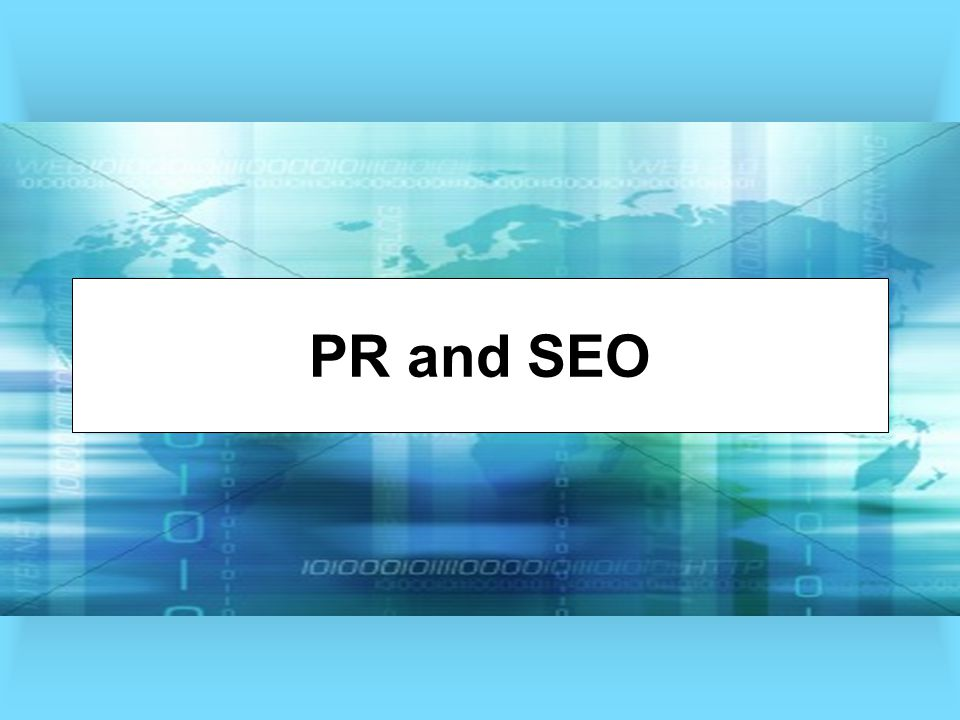 PR and SEO