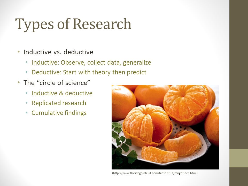 Types of Research Inductive vs.