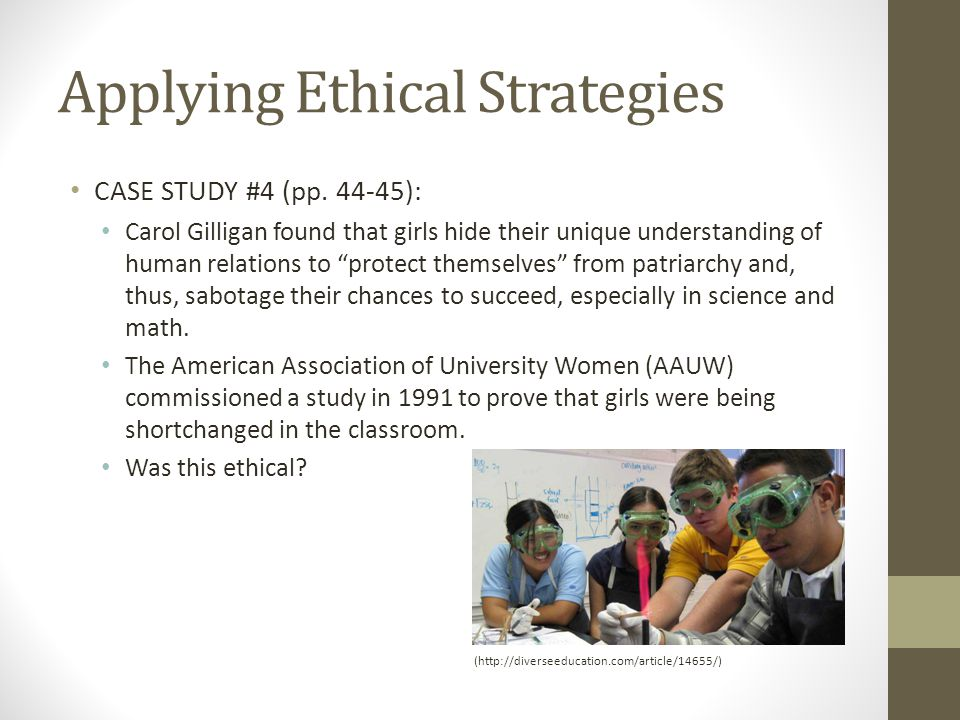 Applying Ethical Strategies CASE STUDY #4 (pp.