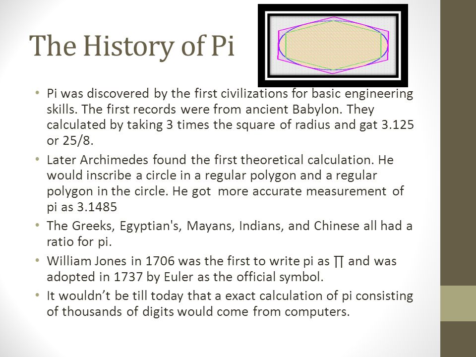 How Pi is Used to Solve a Problem Pi can be used to find the circumference, diameter, and radius of a circle.