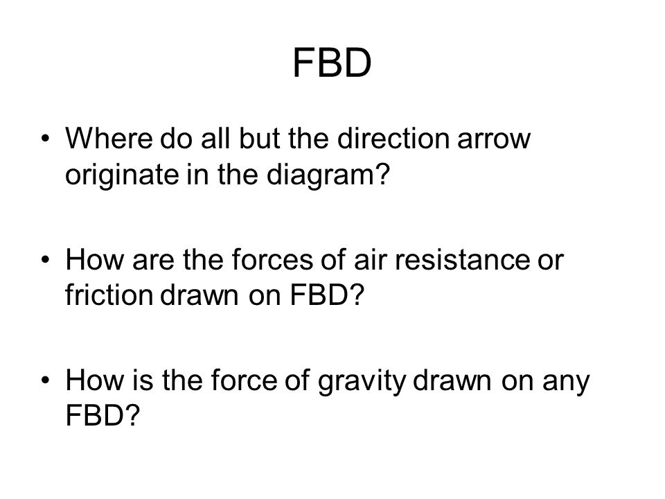 FBD Where do all but the direction arrow originate in the diagram.