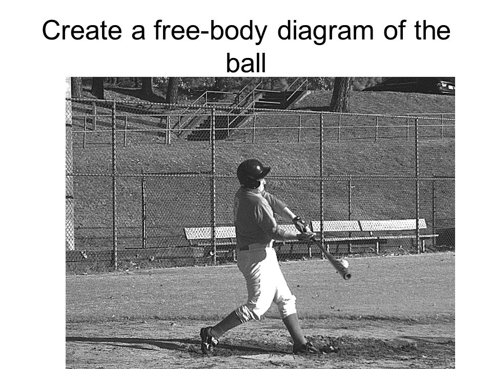 Create a free-body diagram of the ball