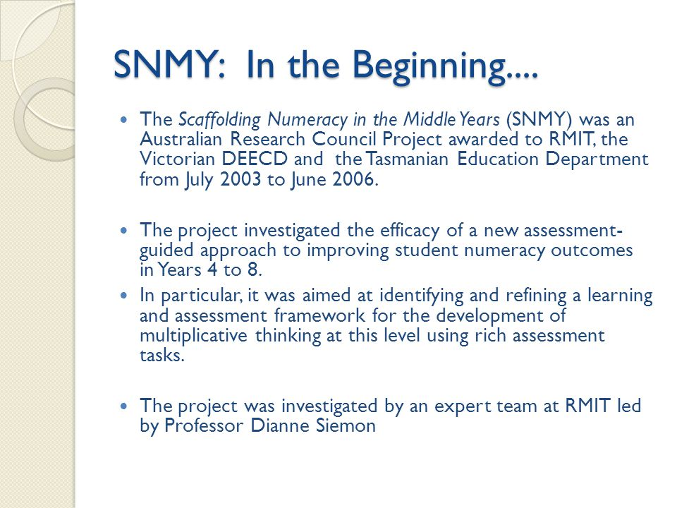 SNMY: In the Beginning....