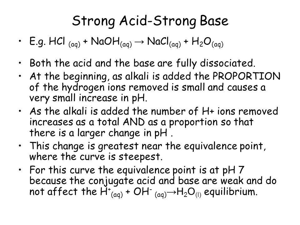 Strong Acid-Strong Base E.g.