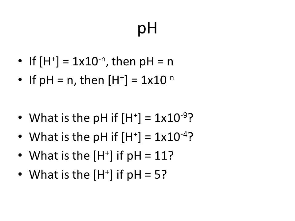 pH What is the pH is you have a 2.3x10 -4 M HNO 3 solution.