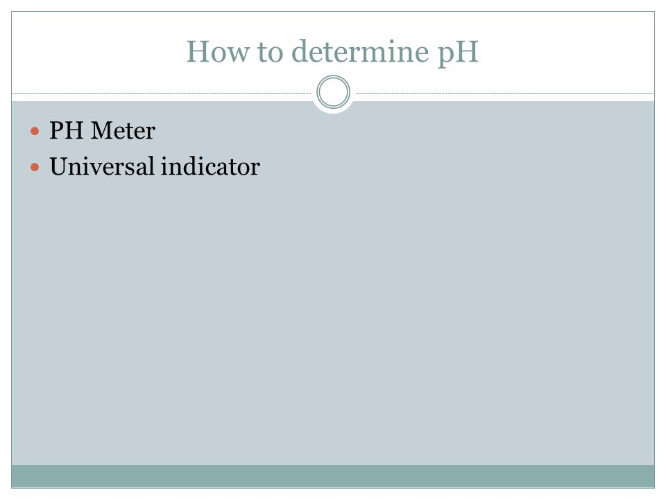 How to determine pH PH Meter Universal indicator