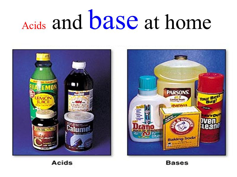 Acids and base at home