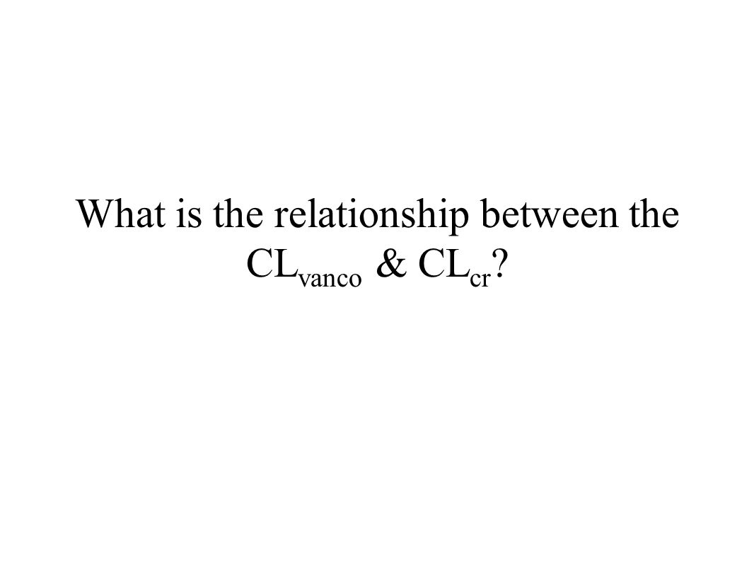 What is the relationship between the CL vanco & CL cr ?