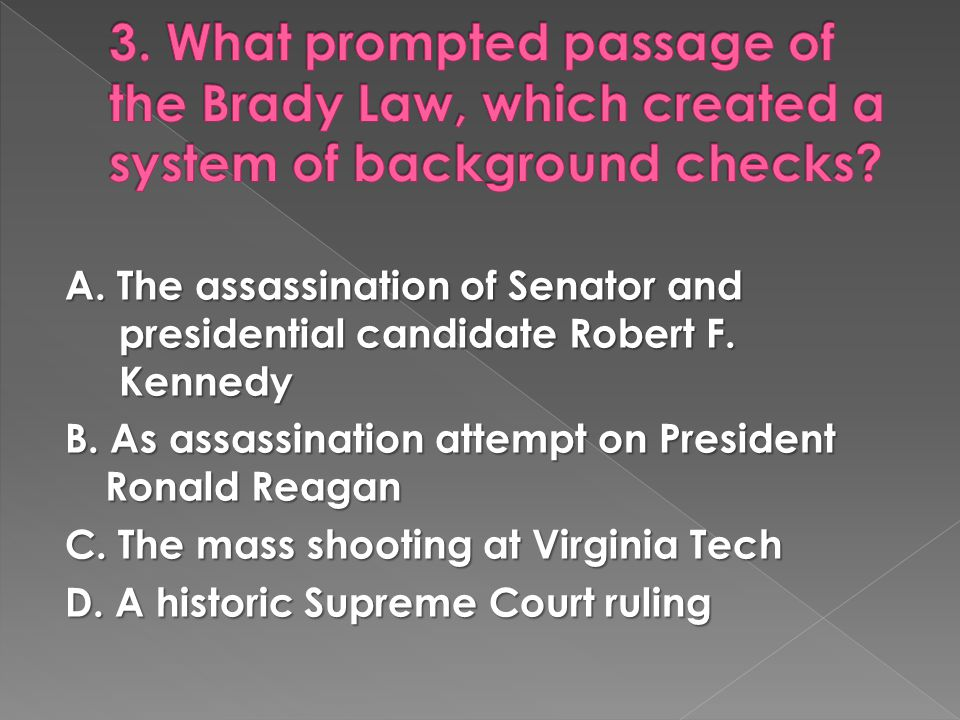 A. The assassination of Senator and presidential candidate Robert F.