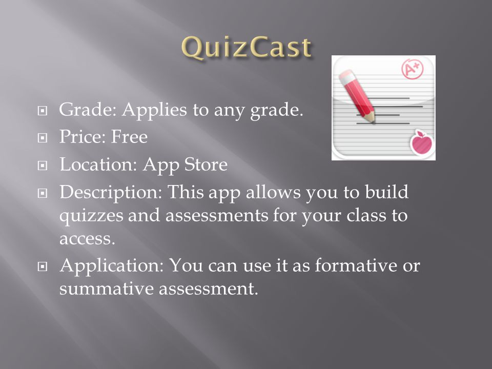  Grade: Applies to any grade.