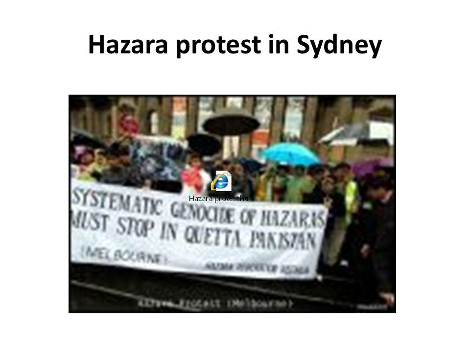 Hazara protest in Sydney
