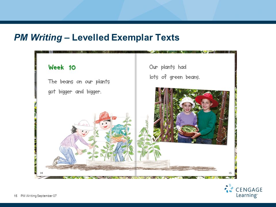 PM Writing September 0715 PM Writing – Levelled Exemplar Texts