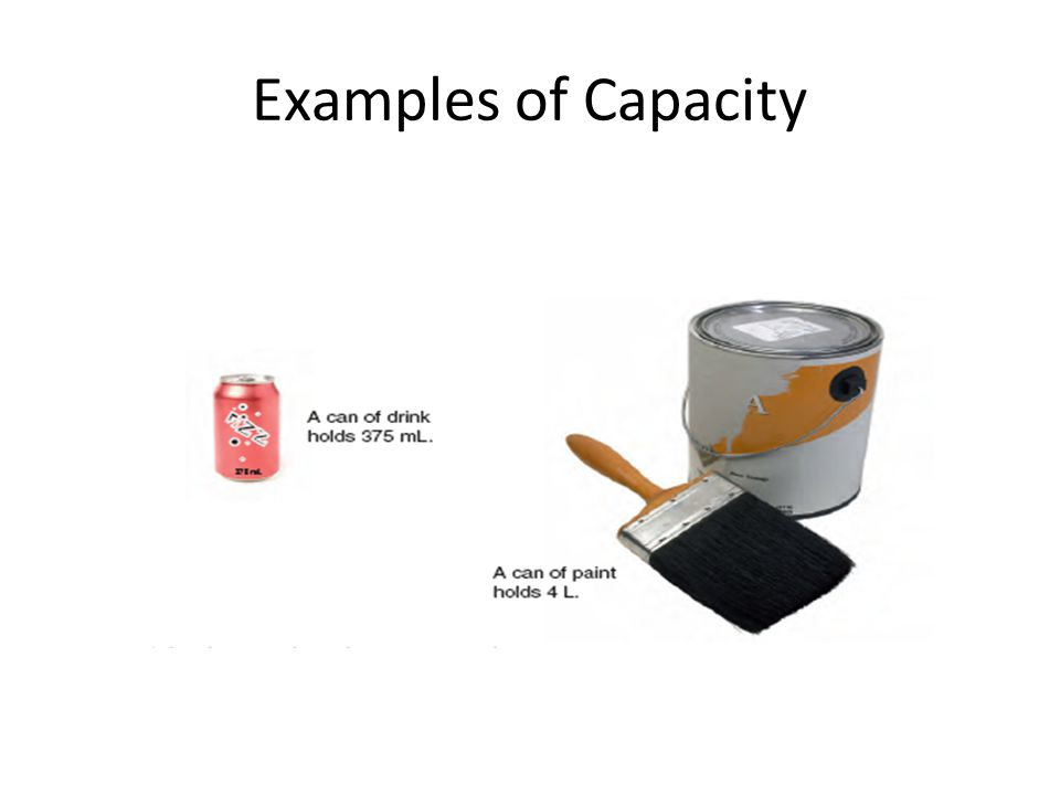 Examples of Capacity