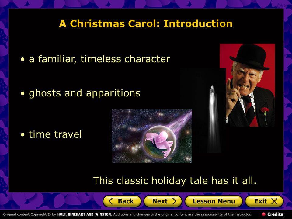 A Christmas Carol: Introduction On a cold and foggy Christmas Eve sometime in the middle 1800s, Ebenezer Scrooge sits working in his office in London.