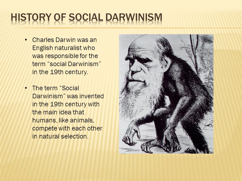 Charles Darwin was an English naturalist who was responsible for the term social Darwinism in the 19th century.
