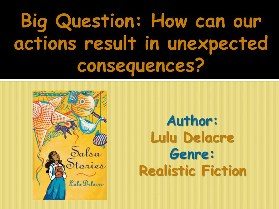 Big Question: How can our actions result in unexpected consequences? Author: Lulu Delacre Genre: Realistic Fiction