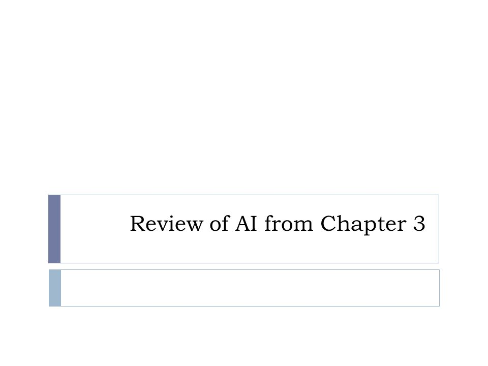 Review of AI from Chapter 3