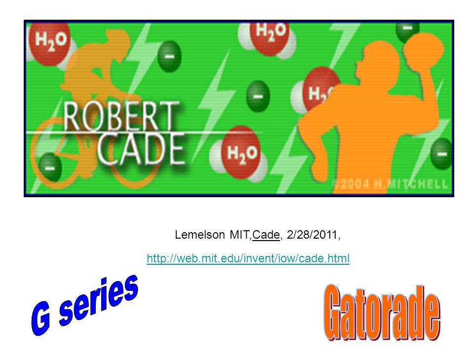 Lemelson MIT,Cade, 2/28/2011, http://web.mit.edu/invent/iow/cade.html