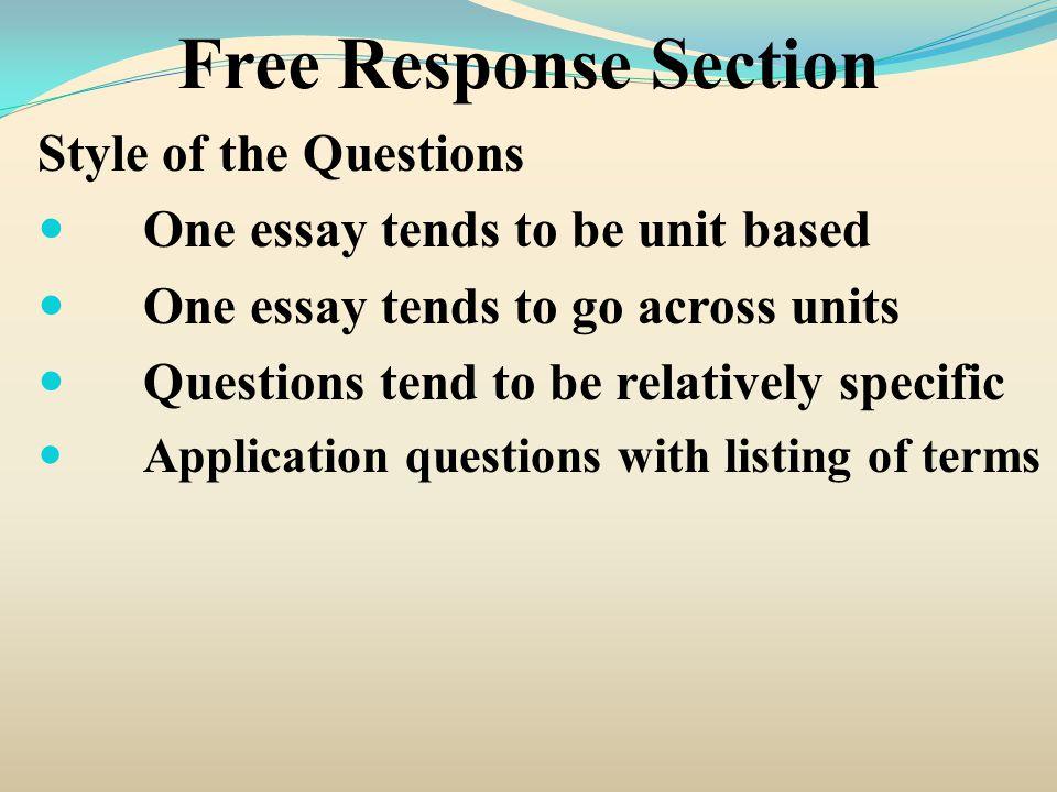 Free Response Question 2007 #2 2.
