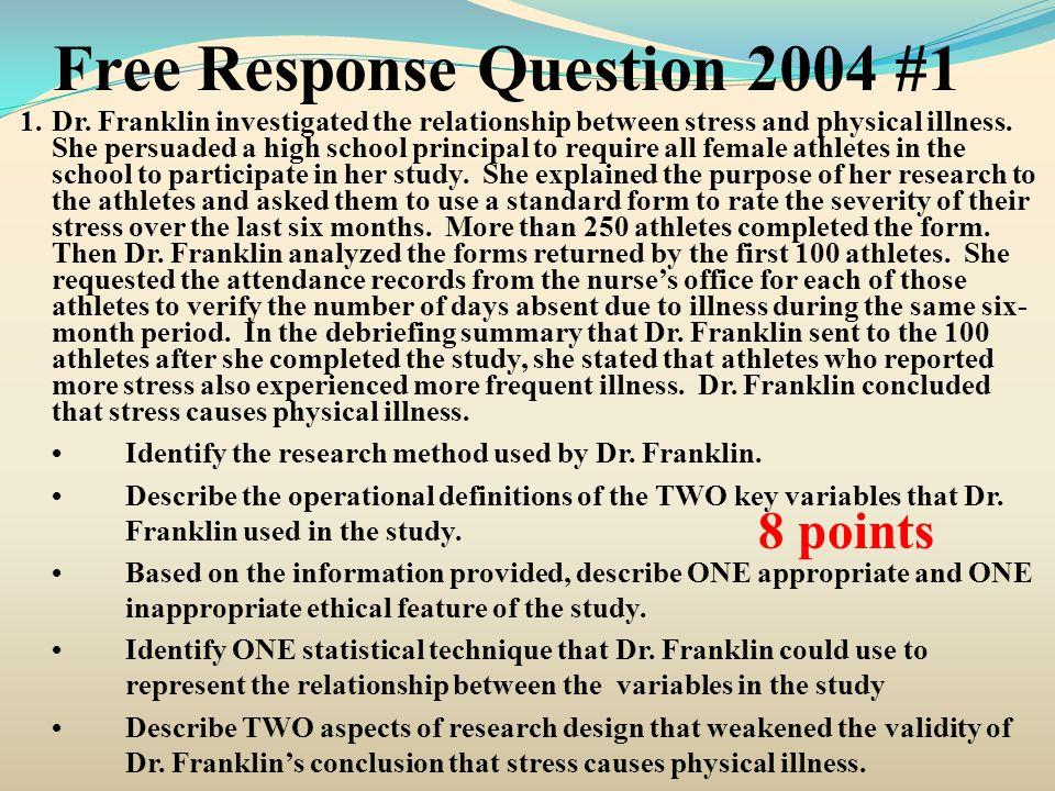 Free Response Question 2009 #2 2.