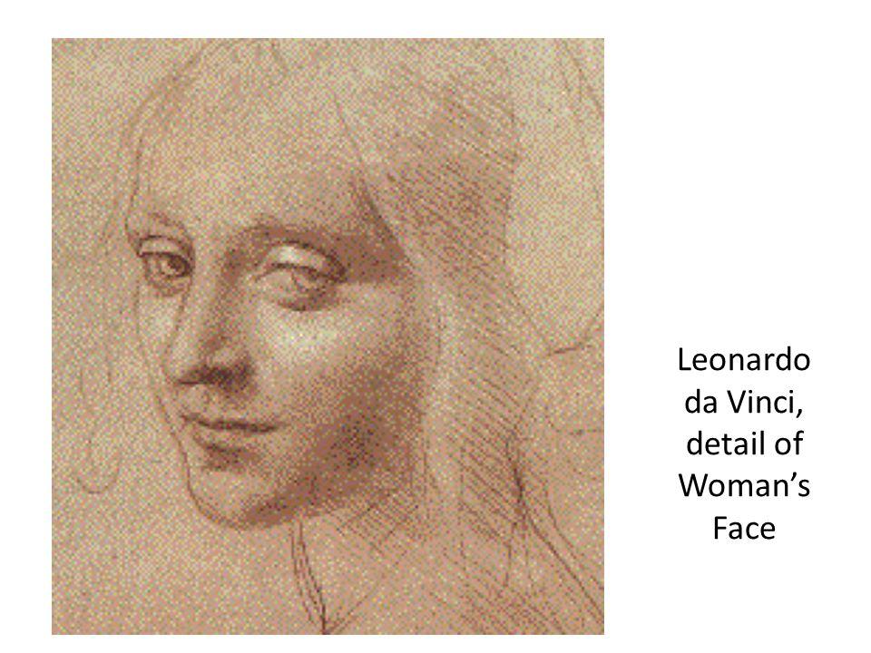 Leonardo da Vinci, detail of Woman's Face