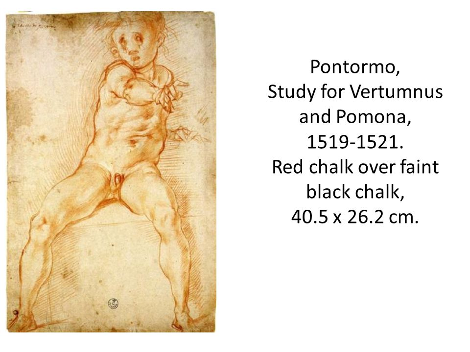 Pontormo, Study for Vertumnus and Pomona, 1519-1521.