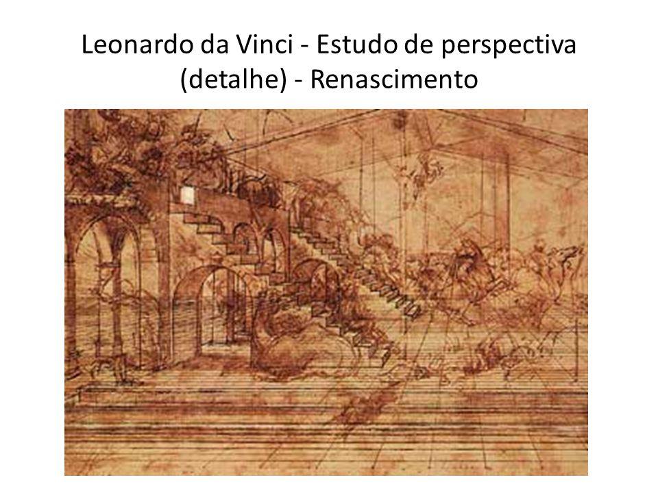 Leonardo da Vinci - Estudo de perspectiva (detalhe) - Renascimento