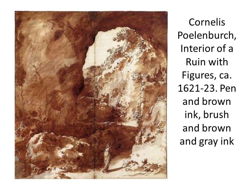 Cornelis Poelenburch, Interior of a Ruin with Figures, ca.