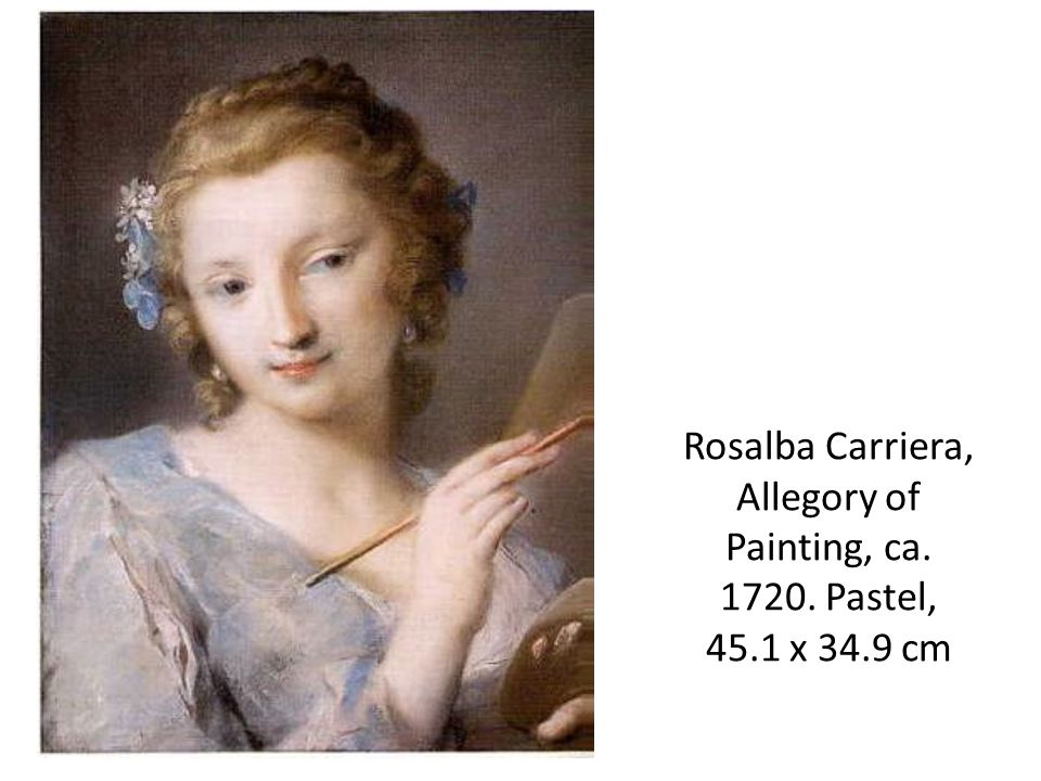 Rosalba Carriera, Allegory of Painting, ca Pastel, 45.1 x 34.9 cm