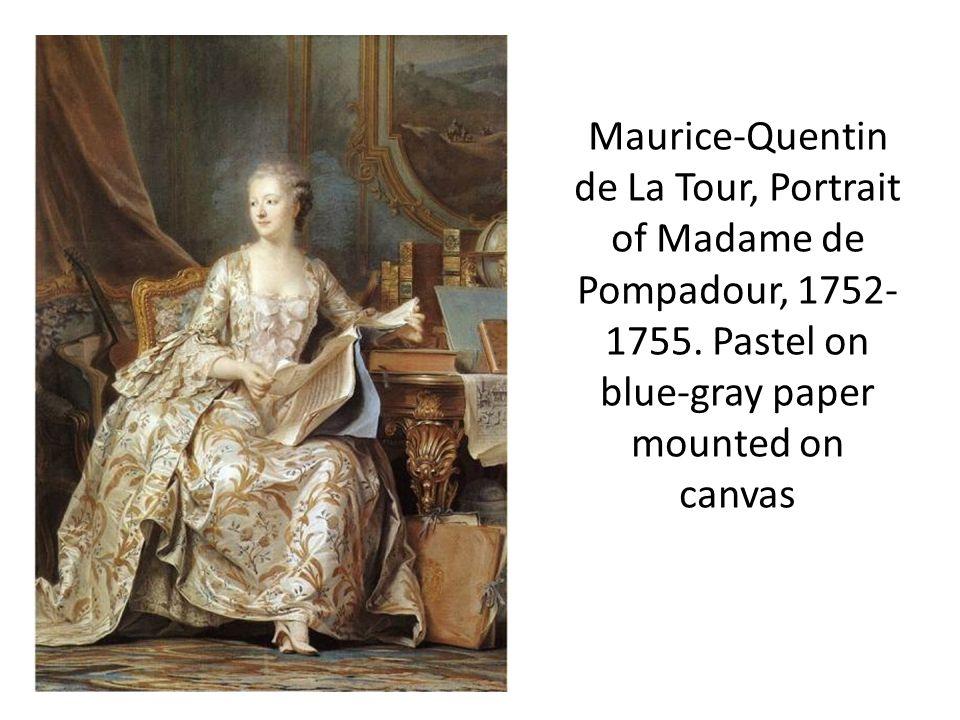 Maurice-Quentin de La Tour, Portrait of Madame de Pompadour, 1752- 1755.