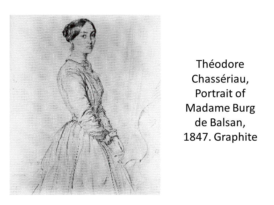 Théodore Chassériau, Portrait of Madame Burg de Balsan, 1847. Graphite