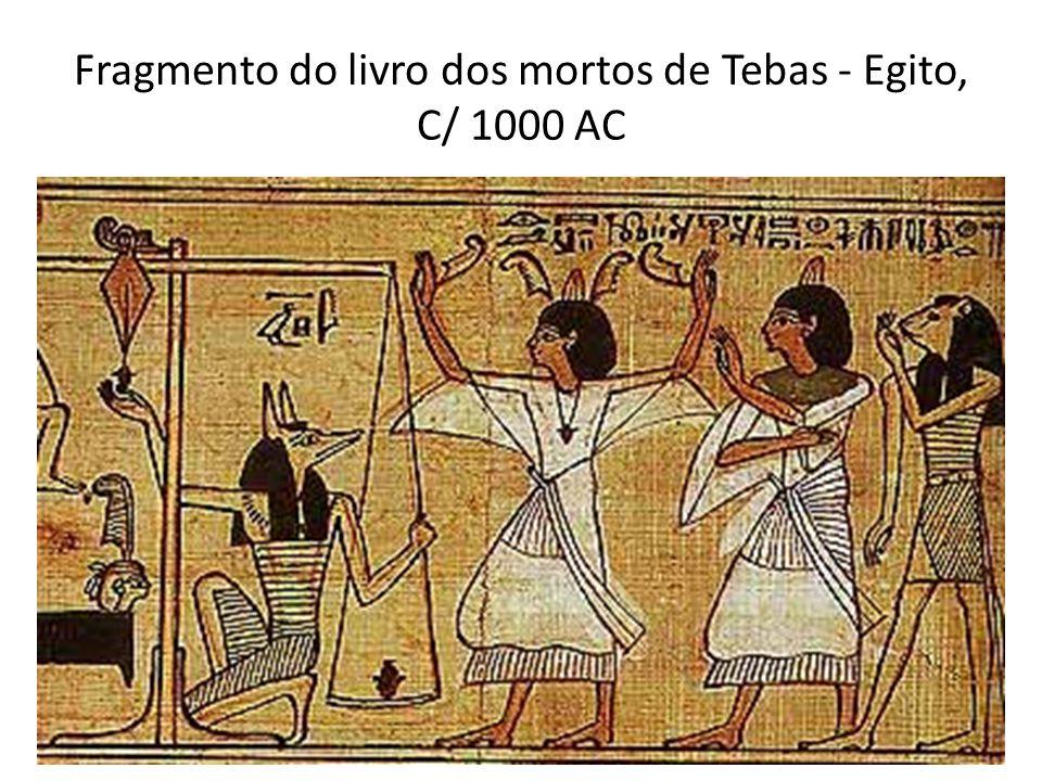 Fragmento do livro dos mortos de Tebas - Egito, C/ 1000 AC