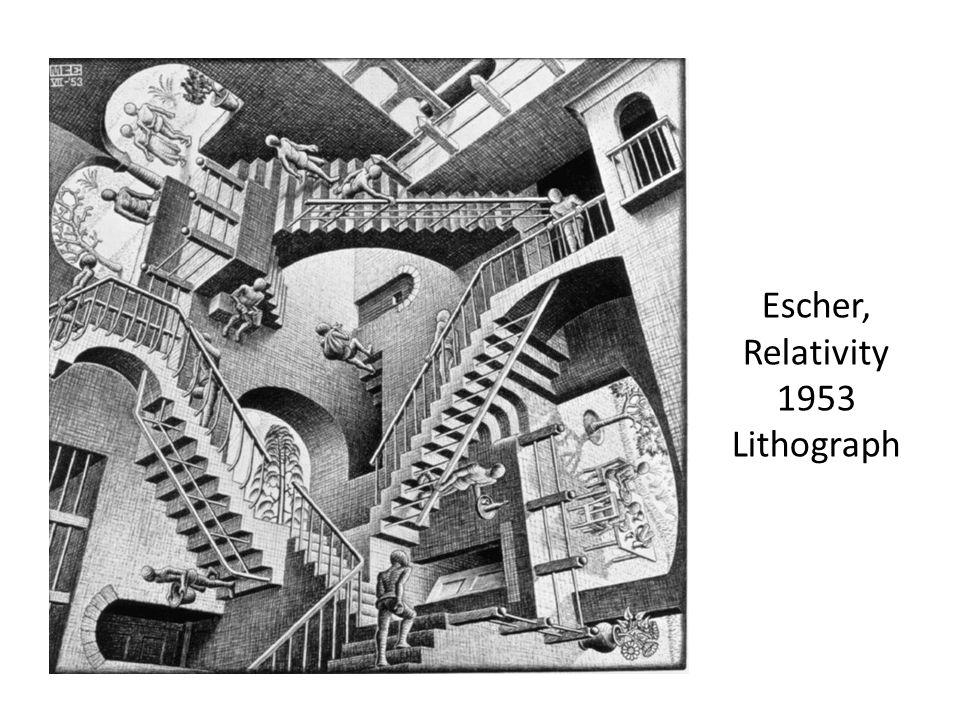 Escher, Relativity 1953 Lithograph