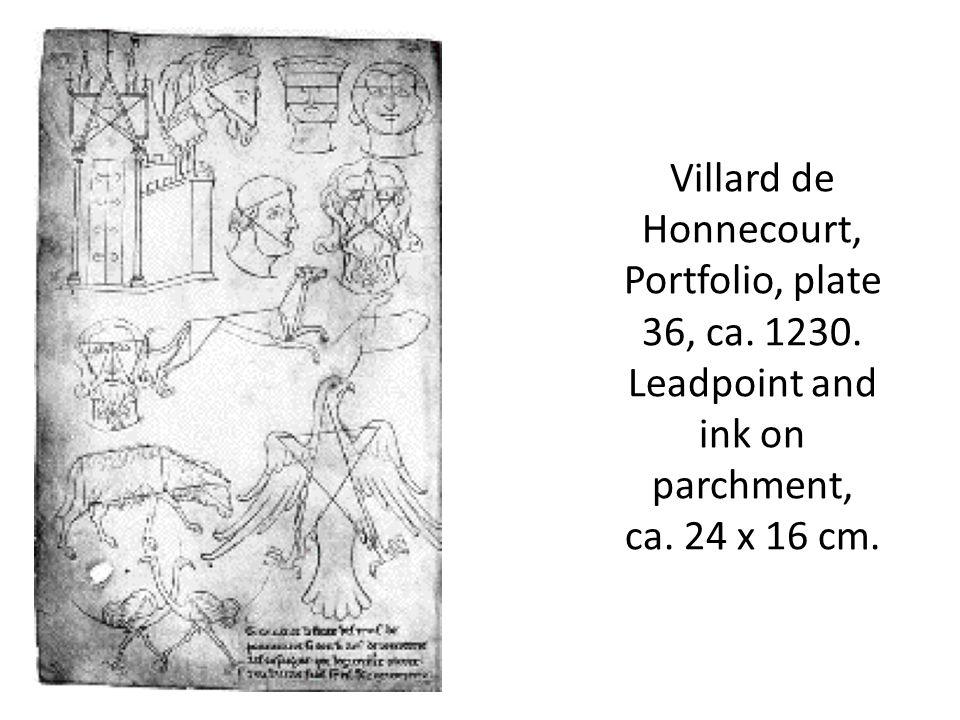 Villard de Honnecourt, Portfolio, plate 36, ca. 1230.