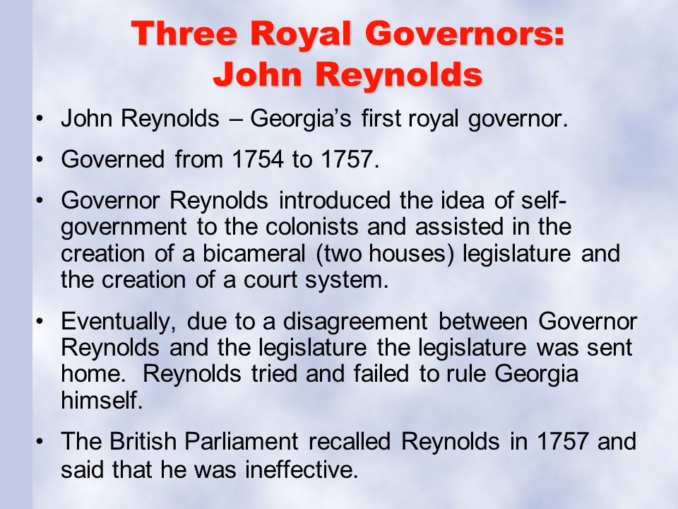 Three Royal Governors: Henry Ellis Henry Ellis – Georgia's second royal governor.