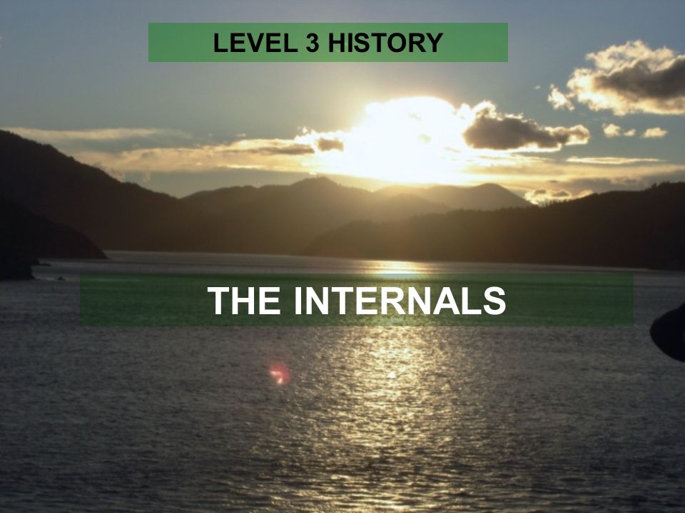 THE INTERNALS LEVEL 3 HISTORY