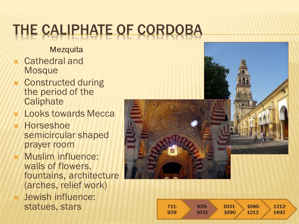 1031-1090 After the death of the caliphate in Cordoba, only a few decades passed before the complete collapse of Muslim presence was unstoppable.