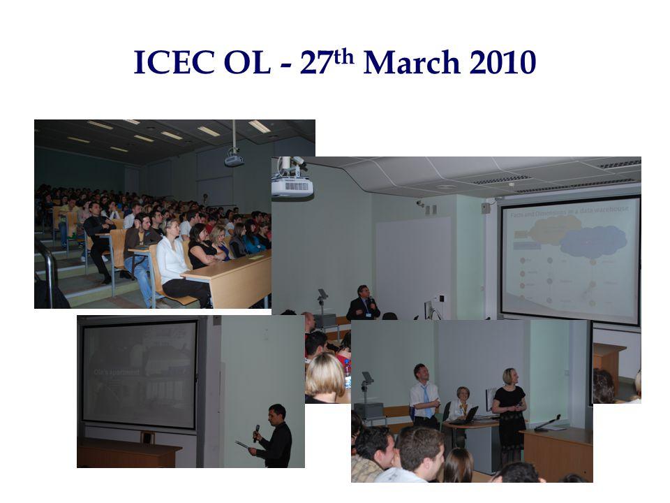 ICEC OL - 27 th March 2010