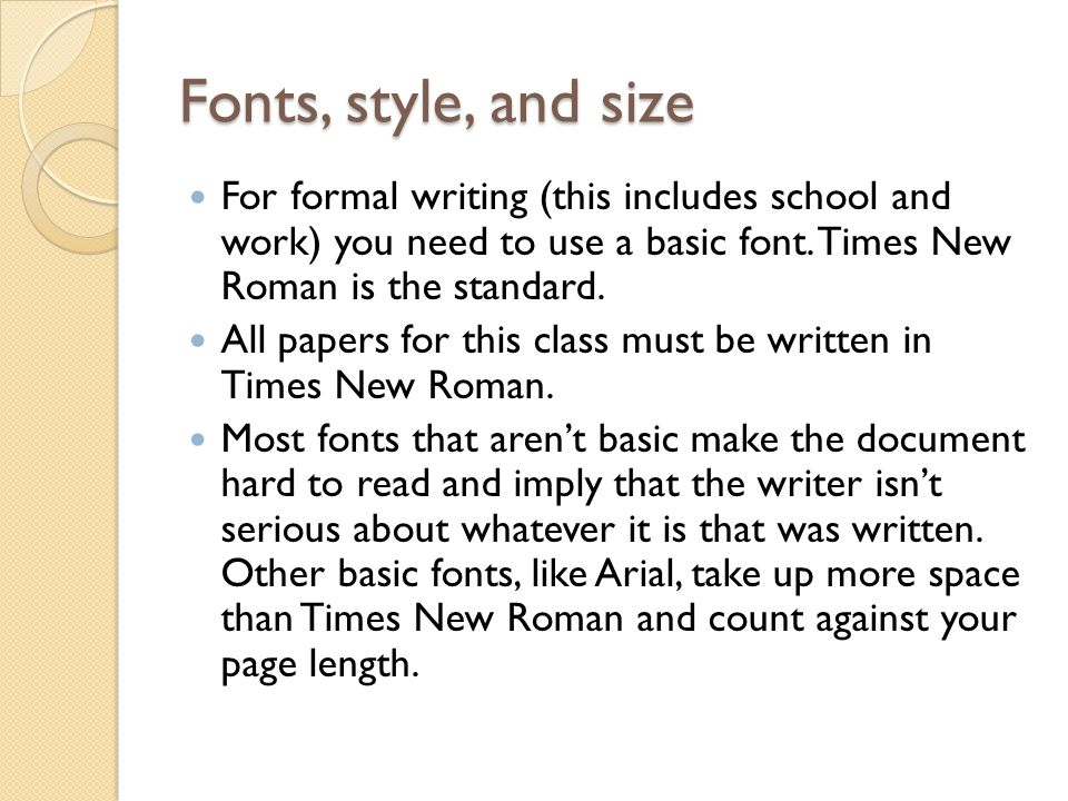 I have to write an essay for school, what font will take up the most room ???