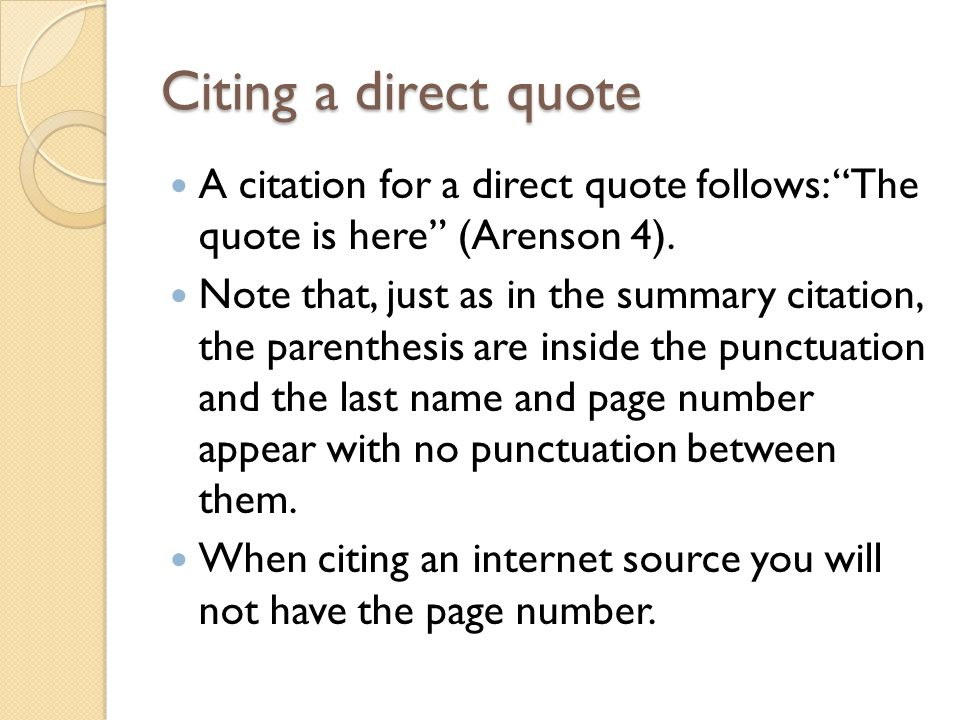 Direct citation