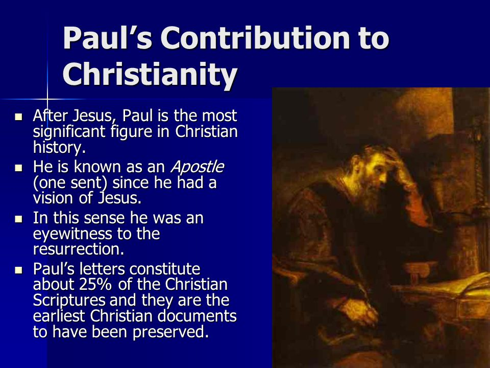 Question Time Why is Paul said to be the founder of Christianity.