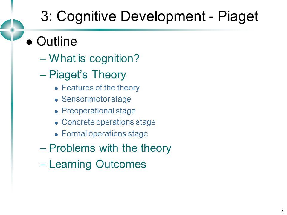 1 3: Cognitive Development - Piaget Outline –What is cognition.