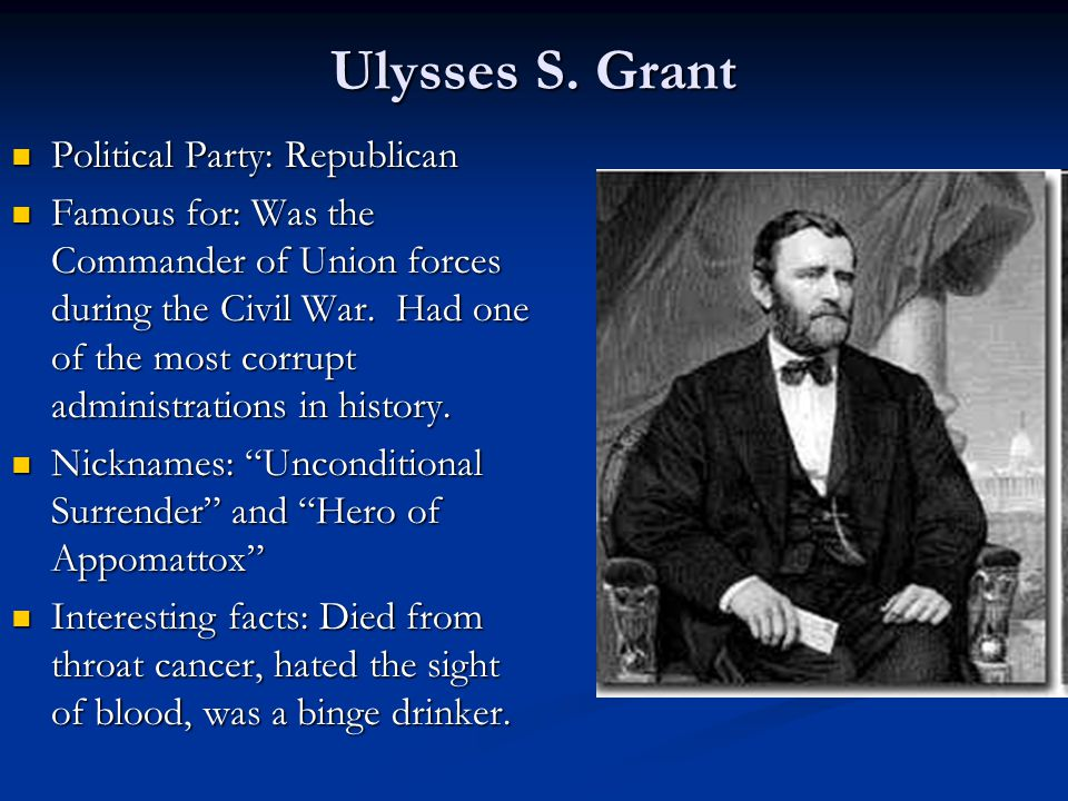 Grants presidency ulysses s grant political party 2 ulysses publicscrutiny Images