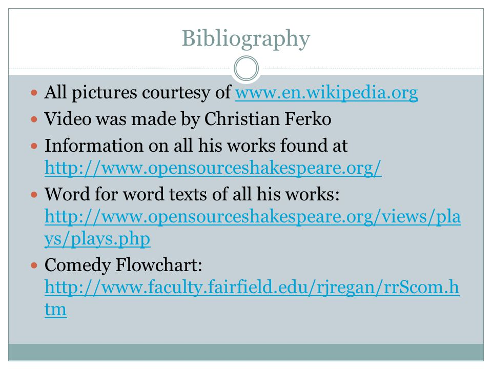 Bibliography All pictures courtesy of www.en.wikipedia.orgwww.en.wikipedia.org Video was made by Christian Ferko Information on all his works found at