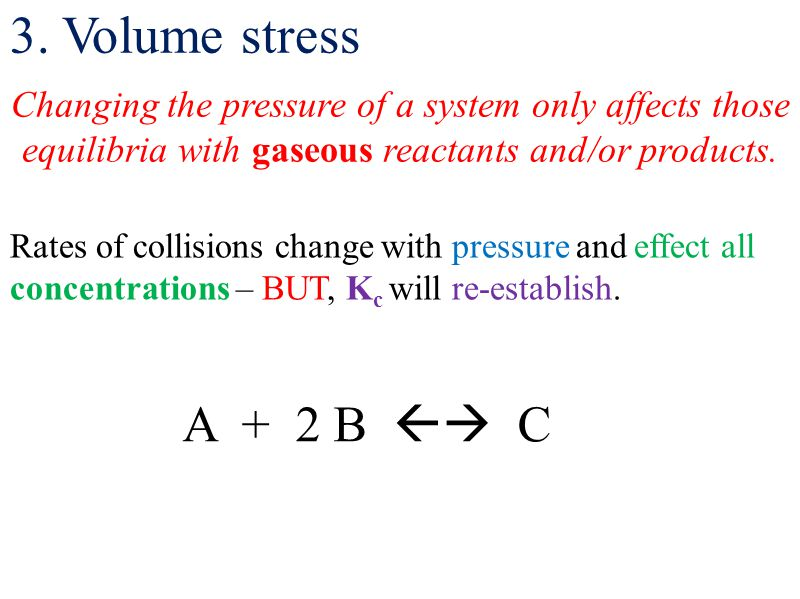 Changing the pressure of a system only affects those equilibria with gaseous reactants and/or products.