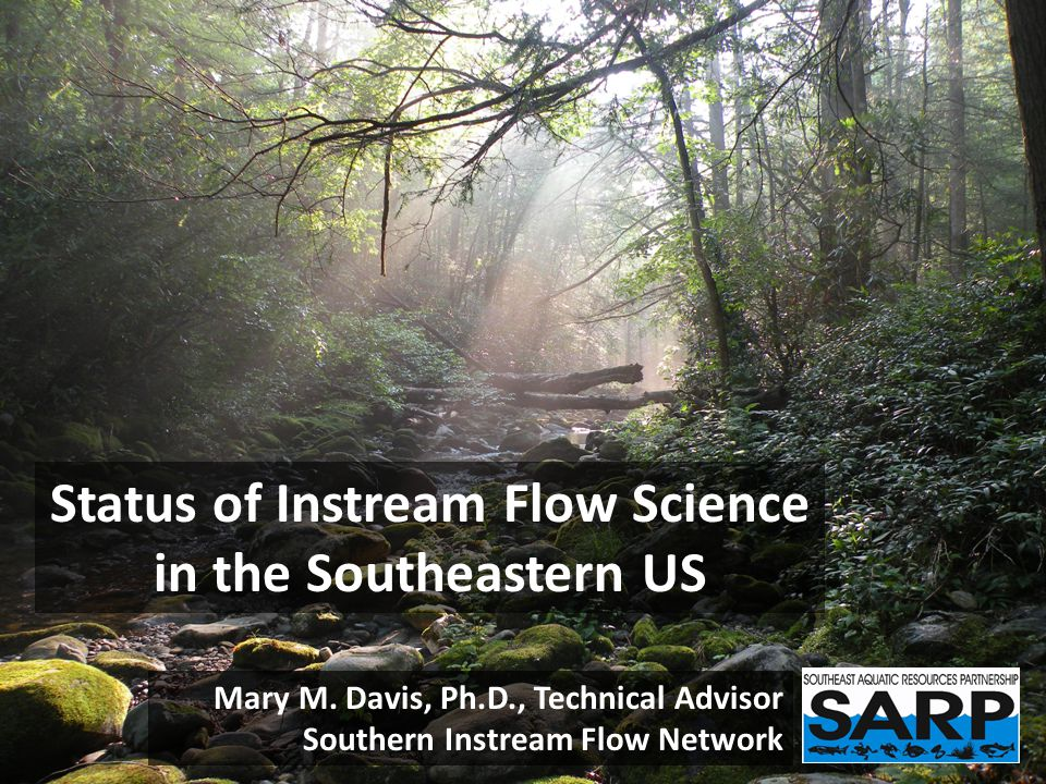 SARP Flow Alteration Assessment Approach – Qualitatively assess sources, spatial distribution, and relative magnitude of hydrologic alteration from water consumption, impervious cover, and dams.