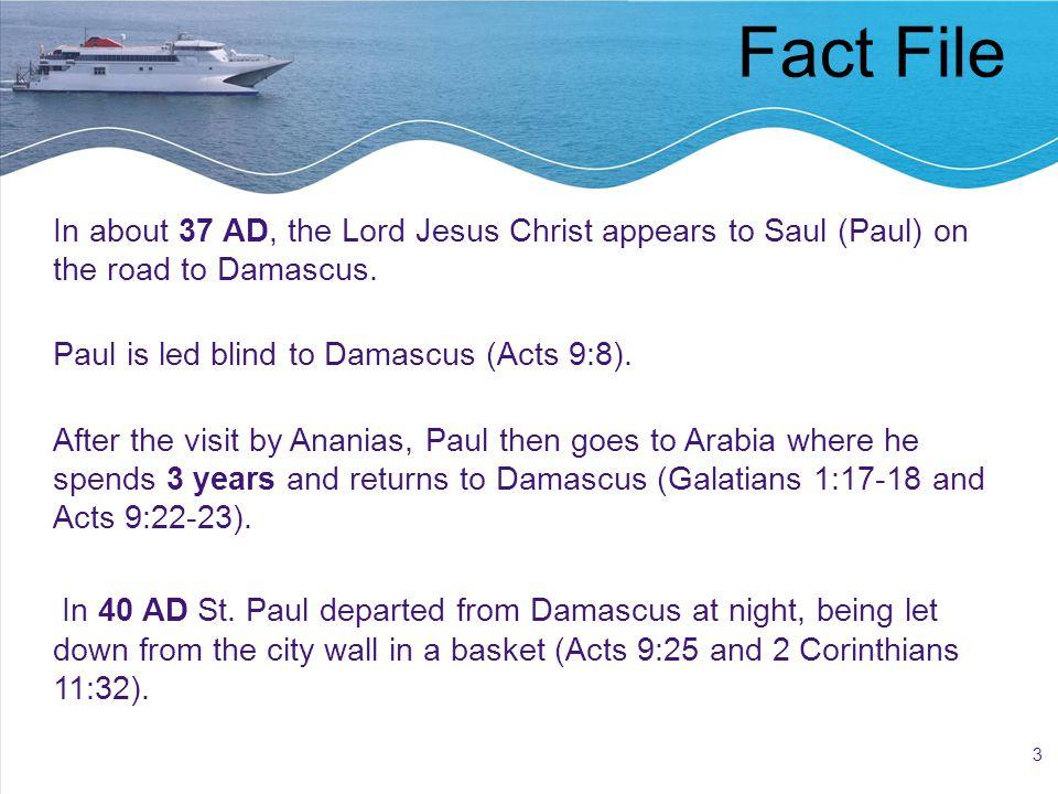 14 Letters During Third Missionary Journey 3- Galatians 4- Romans 5- 1 Corinthians 6- 2 Corinthians