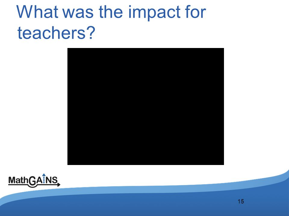 What was the impact for teachers? 15