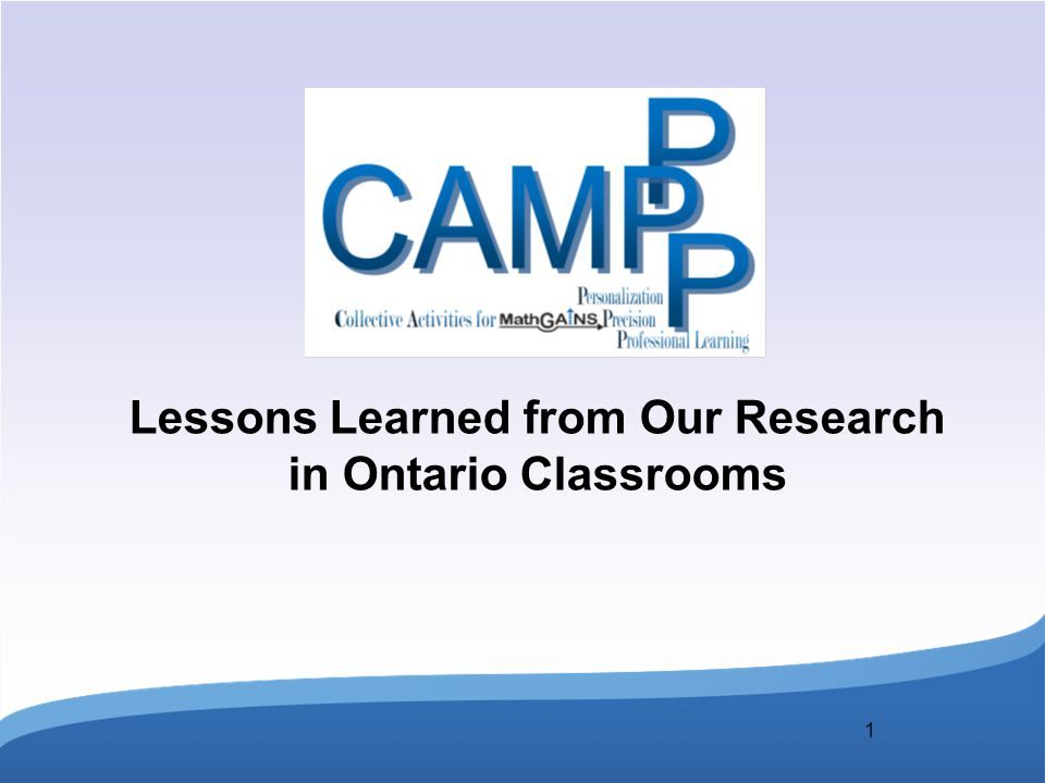 1 Lessons Learned from Our Research in Ontario Classrooms